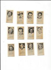 12 THE OWL DRUG CO. MOVIE STAR CARDS 1930'S POWER TURNER AMECHE AUTRY SOTHERN