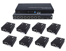 1x8 HDMI 8-Port Splitter Extender Kit over CAT5e CAT6 Ethernet LAN Cable w/IR