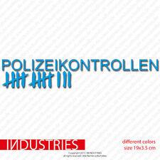Polizeikontrolle Fun Aufkleber Sticker bombing Cult JDM Hater Shocker Auto Car