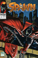 SPAWN #5 NM, Todd McFarlane, Direct Cover, Image Comics 1992, Stock Image