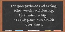 Teacher End of Term Blackboard Chocolate Bar Wrapper Fits Galaxy etc.