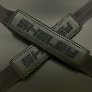 Ford Shelby Black seat belt covers Black embroidery 2PCS