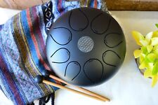 "WuYou Special Notes 8"" Steel Tongue Drum Handpan Tank, FREE Bag Mallet"