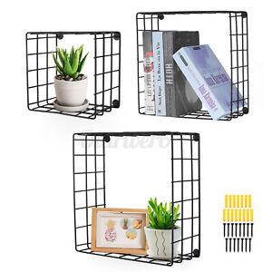 Cube Storage Shelf Rack DIY Wire Grid Bookcase Display Cabinet Organiser UK