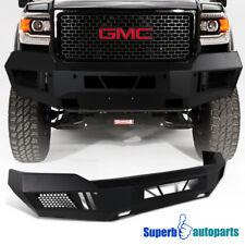 Front Bumper Cover Matt Black Steel 14-15 GMC Sierra 1500 Pickup Truck Assembly