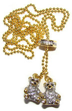 Collier Petits oursons Cadeau St Valentin Petits oursons Collier style Faberge