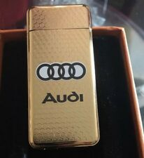 Audi Gold USB ReChargeable Wind proof cigarette lighter GiftBox U.K. Seller