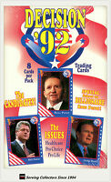 Factory Case-Decision1992 Trading Card Case(10 boxes x 36 pks ) (U.S Politics)