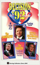 Factory Case-Decision1992 Trading Card Case(10 boxes x 36 pks ) (U.S Politics)