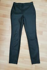 Topshop Artificial Leather Trousers, size UK10 - VGC