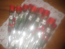 RED SILK ROSE INDIVIDUALLY WRAPPED WITH MINI-TEDDY BEAR & BABYS BREATH FLORAL