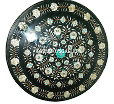 """24"""" Marble Coffee Center Table Marquetry Inlaid Floral Garden Decor Gifts H926"""