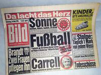 Bildzeitung vom 16.05.1992 * Rudi Carrell * 25. 26. 27. 28. Geburtstag