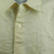 Cubavera Mens Mexican Wedding Shirt Size XL embroidered camp cigar button front