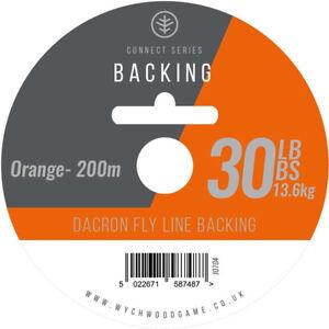 Wychwood Dacron Flyline Backing Orange 30lb 200m Fly Game Trout Salmon Fishing