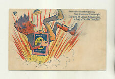 ca1907 HAPPY THOUGHTS CHEWING TOBACCO ADVERTISING POSTCARD