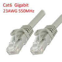 1 Ft (30 cm) Cat6 RJ45 23AWG 1000Mbps Gigabit LAN Ethernet Network Patch Cable