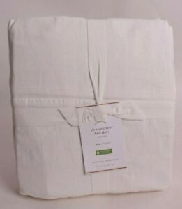 """NWT Pottery Barn PB Essential Bed Skirt, 18"""" Drop, King, Classic Ivory"""