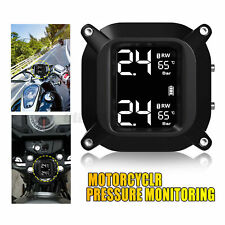 Wireless LCD Motorcycle TPMS Tire Pressure Monitor Systems+2 Sensors
