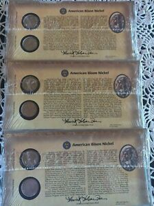 american bison nickel collection (set of three)