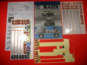 VINTAGE ORIGINAL MANUAL & REPRO DECALS for TAMIYA BLAZING BLAZER 4X4 1/10 RC