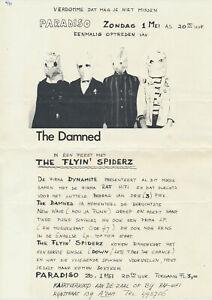 The Damned - Paradiso, Amsterdam, May 1, 1977 [Holland] Handbill / Poster / Punk