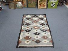Vintage Southwest American Weaving Blanket Rug Kilim Hand Woven Wool 3'x 4'-4