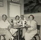 Men Woman Drinking Beer Vintage Photograph Picture Black White 50's Dinette Bar