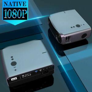8500lm LED Native 1080P Projektor Outdoor Movie Beamer Full HD Spiel HDMI Zoom