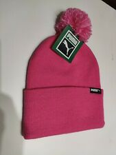 Puma Pink Beanie Bobble Hat brand New Genuine With Tags