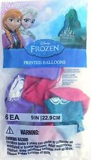 "6 Disney Frozen Elsa & Anna 9"" Balloons, Birthday Party Supplies, Multi-Colored"