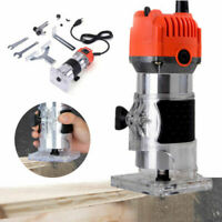 110V 30000RPM Electric Hand Trimmer Wood Laminate Palm Router Joiner Tool Device