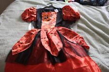 Girls new Halloween outfit orange and black 9-10yrs