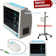 Portable Vital Signs Patient Monitor 6 Parameters+Etco2+Printer+Rolling Stand US