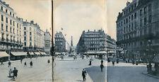 LYON Carte Triple Vue panoramique de la Place de la République