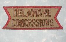 """Delaware Concessions Patch - 4 3/8"""" x 1 3/4""""  - Vintage"""