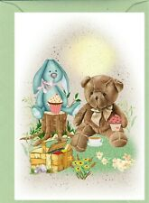 """Teddy Bear (No.6) (4"""" x 6"""") Blank Card for any occasion - Designed by Starprint"""