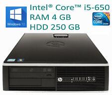 PC HP 8100 Core i5 RAM 4GB W10PRO Formato SFF Caja Pequeña