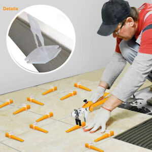 3000Pcs Tile Leveling Spacer System Tool Clips & Wedges Flooring Lippage PlierUK