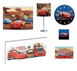 DISNEY CARS - Light Shade ,Stick Lamp, Wall Art, Wall Clock or Bundle