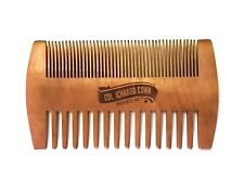 All Natural Peach Wood Beard & Mustache Comb With Fine & Coarse Teeth