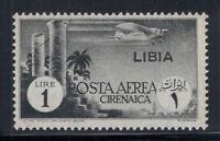 Libia 1937 Sass. 52 Nuovo ** 100% Posta Aerea 1 Lire