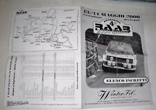 RALLY CLUB 1314 maggio 2000 4° RABB CLASS ELENCO  castiglione dei pepoli RARO
