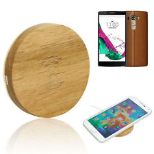 Wooden Qi Wireless Charger Charging Pad Recever Support for LG G4 For Samsung