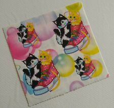 Vintage 80s 90s stickers strips Lisa Frank cats kittens colorful sneakers shoes