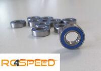 4x forally Roulement à bille 6700-2RS bleu, 10X15X4,4 pièces