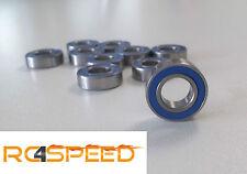 4x FoRally Cuscinetto a Sfera 6700-2RS blu, 10x15x4, 4 Pezzo