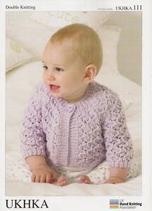 UKHKA baby cardigan & waistcoat Knitting pattern 111