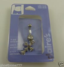 crystal cross belly button navel ring piercing naval bling claires gothic
