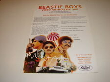 BEASTIE BOYS VIDEO ANTHOLOGY!!!!!!RARE FRENCH PRESS/KIT